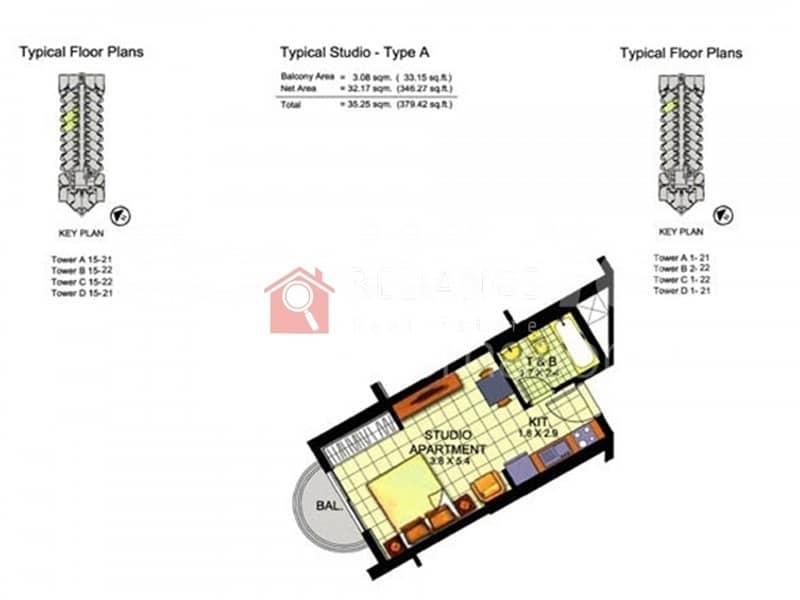 12 Amazing Studio Apartment for sale in IMPZ