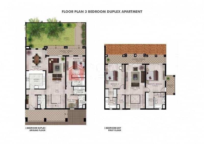 10 Duplex Apartment |Community View|Large Terrace