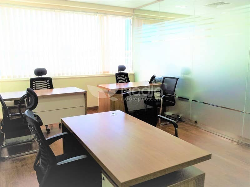 AED3400 per Month | Fully Serviced Office | Prime Location | Bayut com