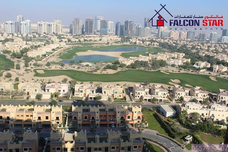 Full Golf Course and Pool facing Luxury Furnished 1 BHK Apartment | Elite-10, Sports City