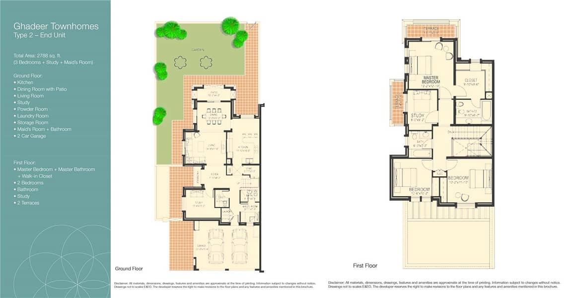 10 3 Bedroom | Study | Maids | Landscaped