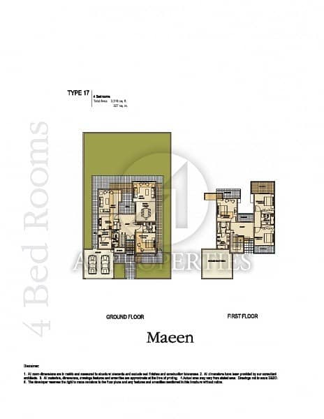 11 Corner Plot 4BR with Partial Lake View