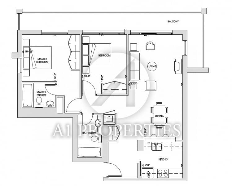 12 Bright and Spacious 2 Bedroom in The Greens