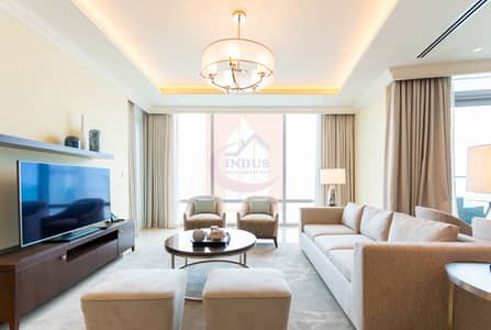 3 Bedroom Apartment for Rent in Downtown Dubai, Dubai - Burj and Fountain View|3BR+M Address Fountain T1