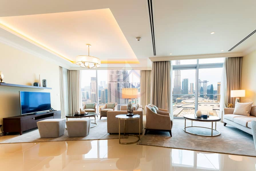 2 Burj and Fountain View|3BR+M Address Fountain T1