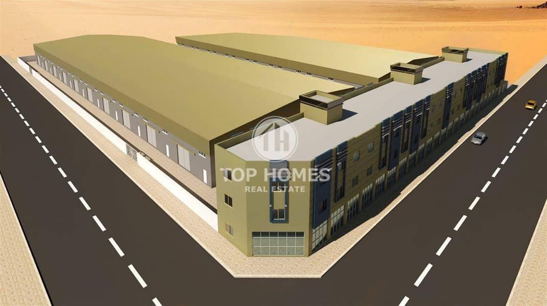 12 ware house in umm al Quwain industrial city