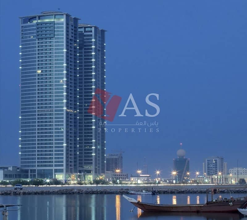 Cozy Sea View one Bedroom for Sale in Julphar Tower - Ras Al Khaimah.