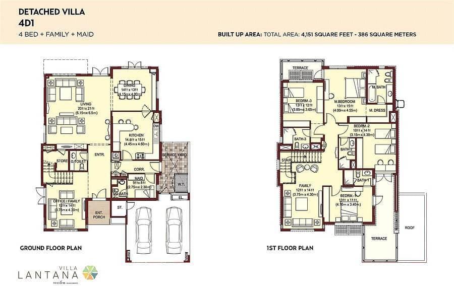 10 Type 4D1 | 4 Bedrooms | Detached Villa