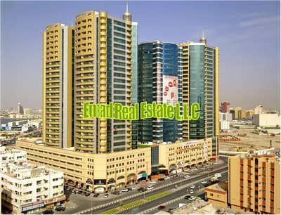 2 Bedroom Apartment for Sale in Ajman Downtown, Ajman - Horizon Towers: 2 Bed Hall (Open view) Empty Flat 1700 sqft. Luxurious and spacious