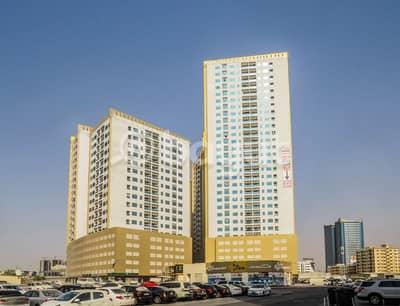 شقة 1 غرفة نوم للبيع في عجمان وسط المدينة، عجمان - غرفة وصالة للبيع بابراج اللؤلؤة مع باركنج مدفوع كامل