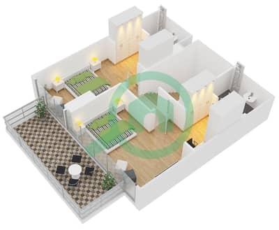 زايا هاميني - 2 غرفة شقق اكتب Duplex A1 مخطط الطابق