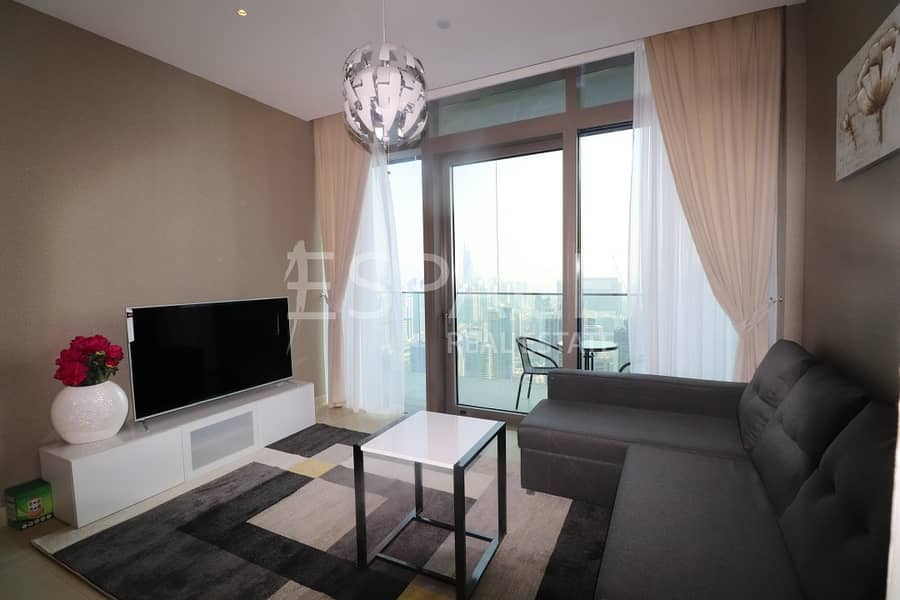 Luxury New 1BR | High Floor | Furnished