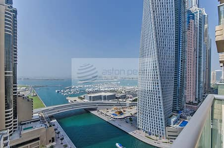 فلیٹ 2 غرفة نوم للايجار في دبي مارينا، دبي - Full Sea View   2 Bed   Vacant Apartment