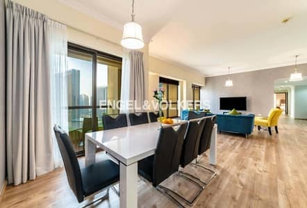 4 Bedroom Flat for Rent in Jumeirah Beach Residence (JBR), Dubai - Luxury Furniture | Well Maintained | High floor