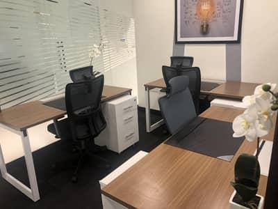 مکتب  للايجار في شارع الشيخ زايد، دبي - Fully Furnished shared Offices Ready with Ejari