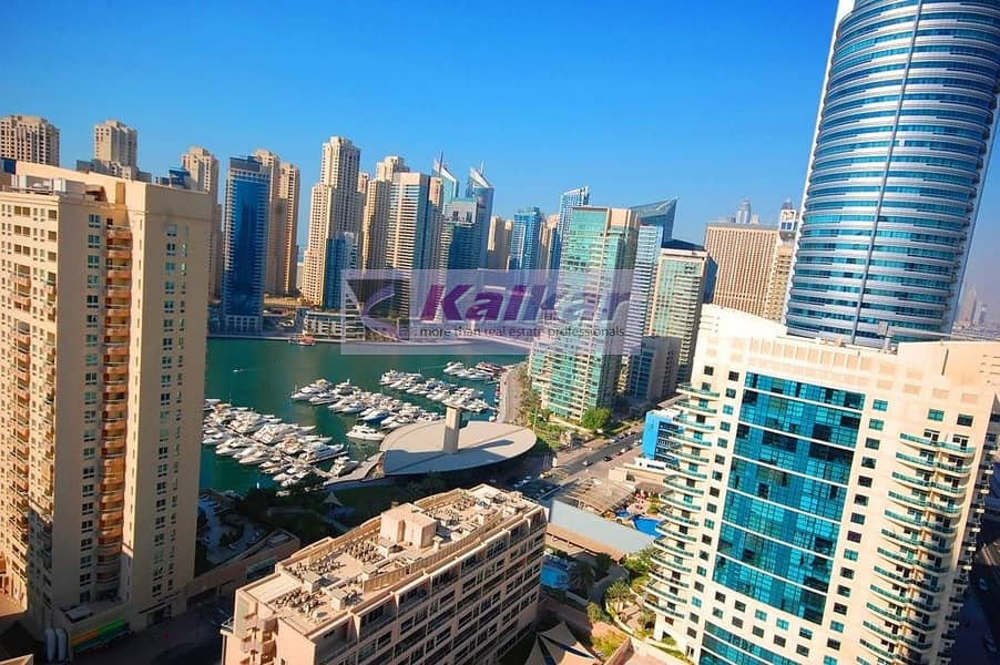 Dubai Marina - 1 Bedroom with huge balcony and unobstructed view of marina  @ Dream Tower for SALE -AED.750