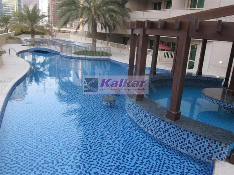 9 Dubai Marina - 1 Bedroom with huge balcony and unobstructed view of marina  @ Dream Tower for SALE -AED.750