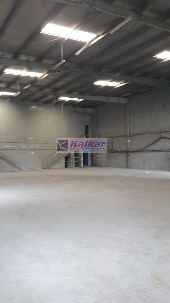8 Al Qusais - Independent warehouse  of 11000 Sq.Ft with 2000 Sq.Ft Mez (150 KV) Power - Rent AED.300
