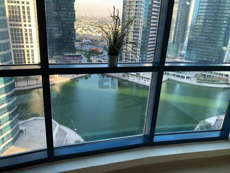10 X1 ONE BED ROOM FULLY FURNISHED WITH LAKE VIEW IN JLT  @  57000