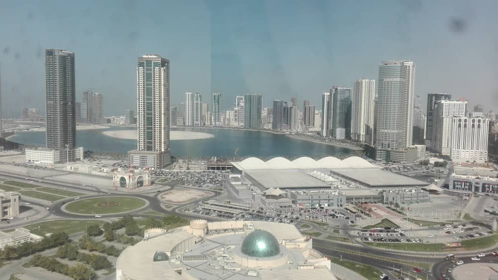 Sea view Huge 1 bedroom in 12 payments with balcony on main al taawun street