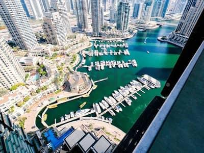 شقة 2 غرفة نوم للايجار في دبي مارينا، دبي - Sea View|Low Floor|Chiller Free