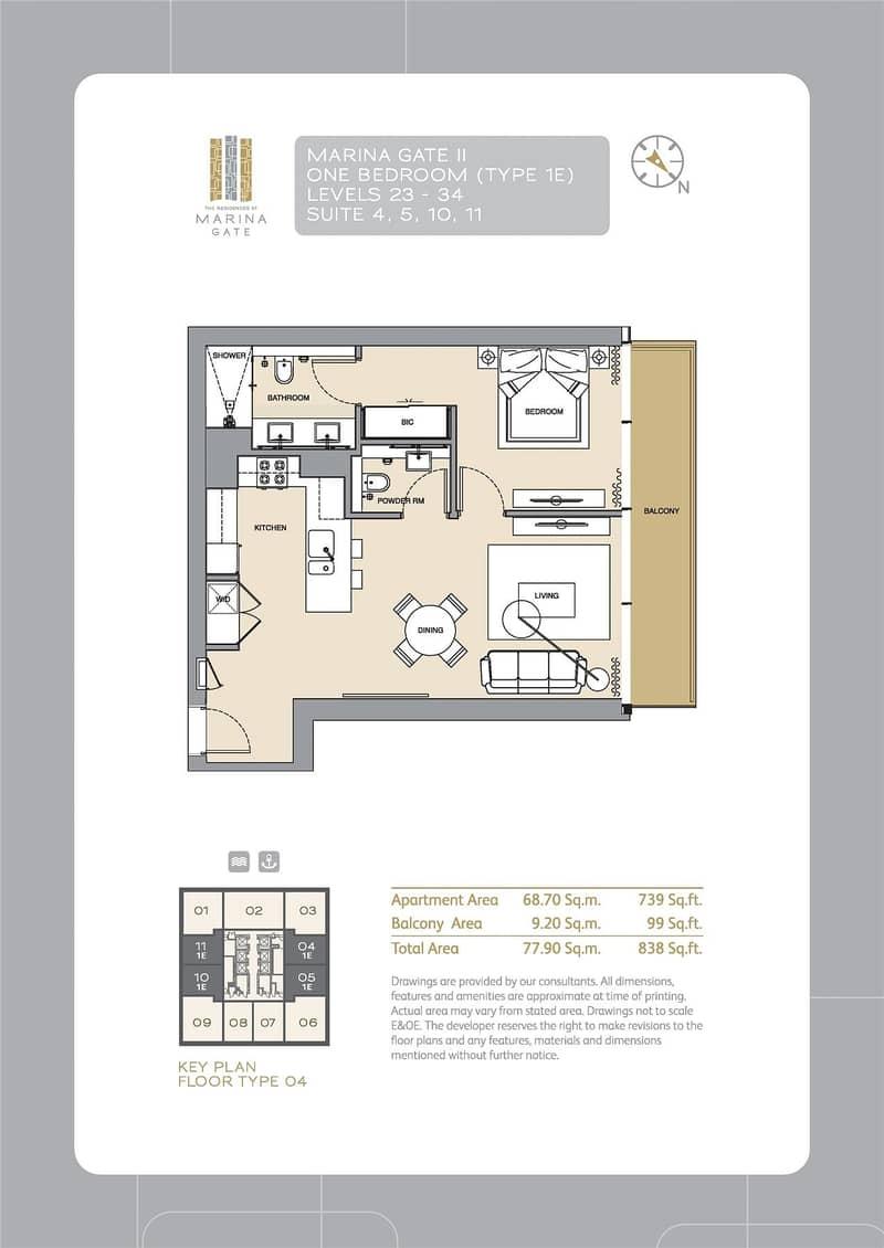 10 Marina Views | One Bedroom | Below OP