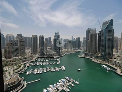 شقة 3 غرفة نوم للايجار في دبي مارينا، دبي - Stunning Full Marina View 3 Bed property for rent