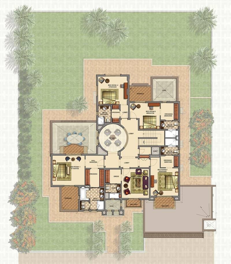 10 6 Bed   Private Pool   Large Corner Plot