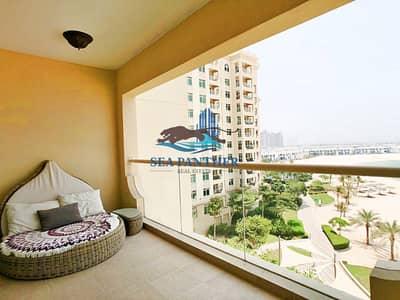 فلیٹ 1 غرفة نوم للايجار في نخلة جميرا، دبي - 1BR with Full Sea View for Rent in Palm Jumeirah
