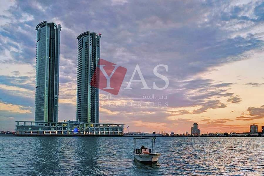 Amazing One Bedroom Apartment with Fabulous Water View for Rent in Julphar Tower - Ras Al Khaimah