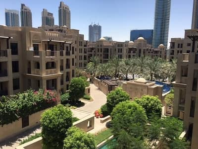 1 Bedroom Apartment for Rent in Old Town, Dubai - Gorgeous pool and community view in Manzil