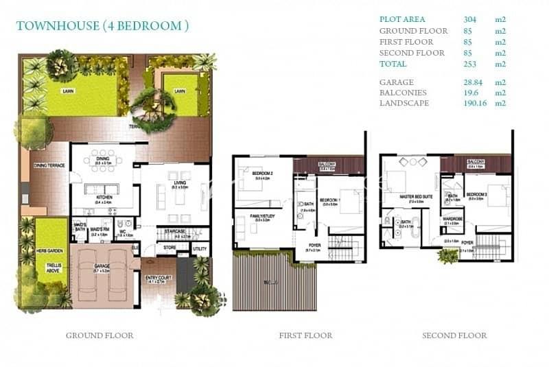11 Huge 4 BR Townhouse Type A + Rental Back
