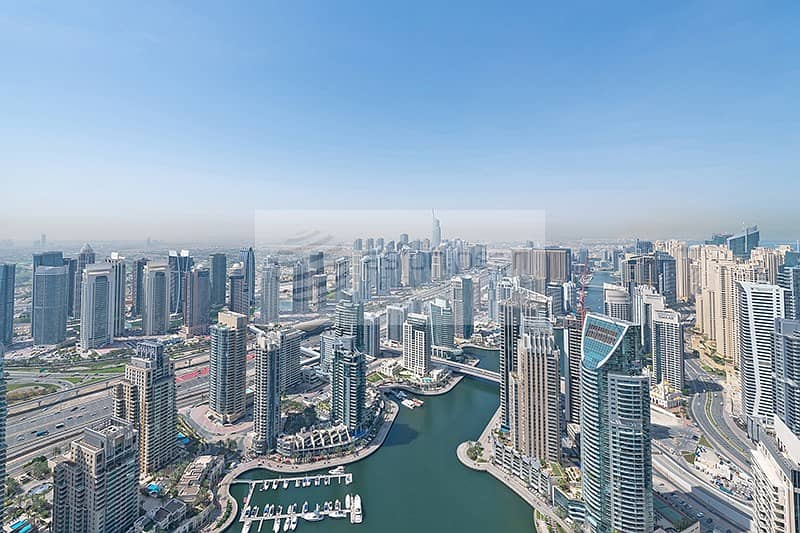 One Bed with 360 View of Marina