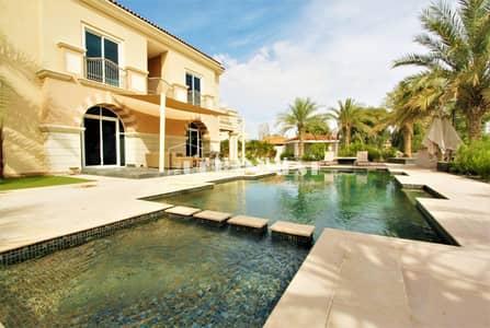 فیلا 5 غرفة نوم للايجار في مدينة دبي الرياضية، دبي - Stunning B1 golf course villa with pool