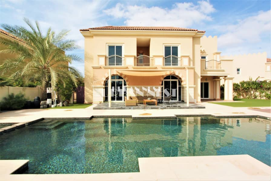 2 Stunning B1 golf course villa with pool
