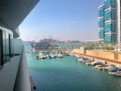 شقة 2 غرفة نوم للايجار في شاطئ الراحة، أبوظبي - Spacious 2 BR with STUNNING Marina View!