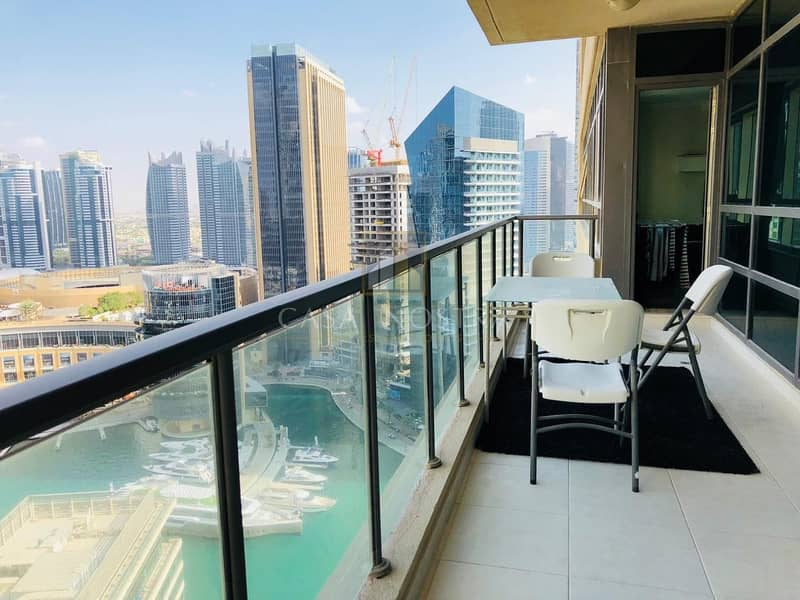 2 Full Marina View Furnished 2BR on Higher Floor