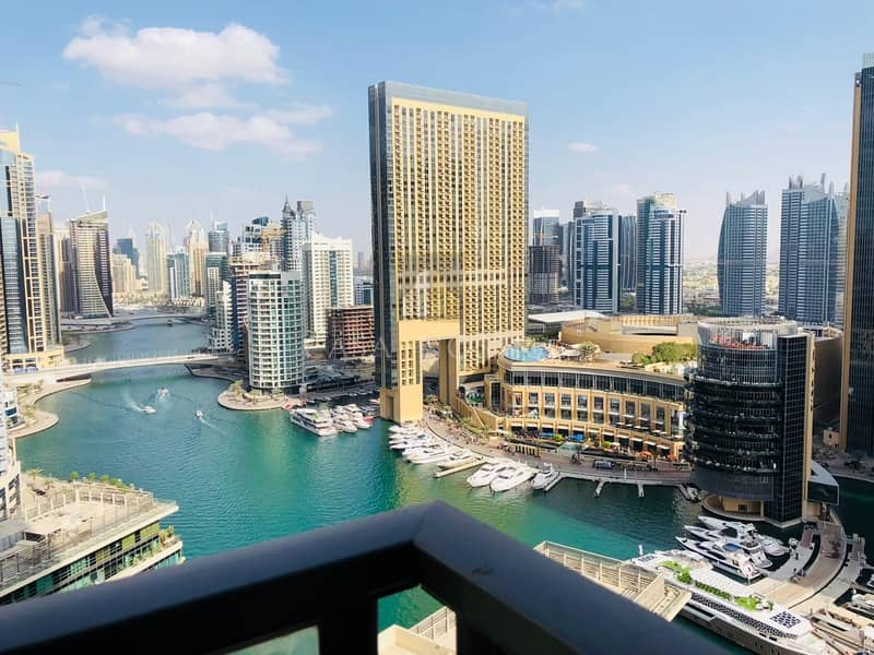 11 Full Marina View Furnished 2BR on Higher Floor