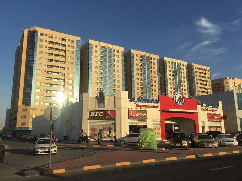 للبيع غرفة وصاله فى ابراج جاردن سيتى قريب جامعة عجمان فقط 165 الف