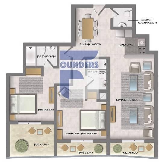 17 Classical Design | 1 Bedroom Aparment | Offplan 50% Post Handover Aparment Property