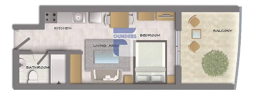 17 2 Bedroom Apartment | Offplan Hera Tower | Dubai Sports City