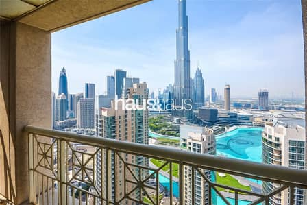 2 Bedroom Apartment for Rent in Downtown Dubai, Dubai - Burj and Fountain View|Walk-in Shower|Chiller Free