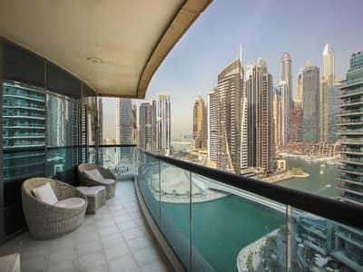 شقة 3 غرفة نوم للبيع في دبي مارينا، دبي - شقة في برج الزمان والمكان دبي مارينا 3 غرف 2250000 درهم - 4150732