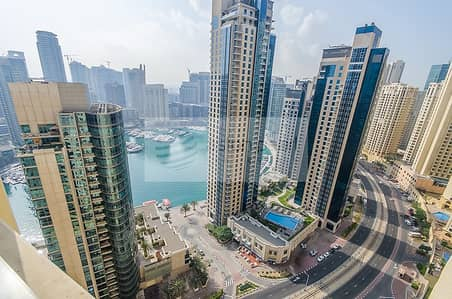 شقة 2 غرفة نوم للبيع في مساكن شاطئ جميرا (JBR)، دبي - Fully Furnished 2BR with Stunning Marina View