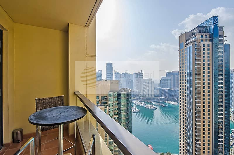 2 Fully Furnished 2BR with Stunning Marina View