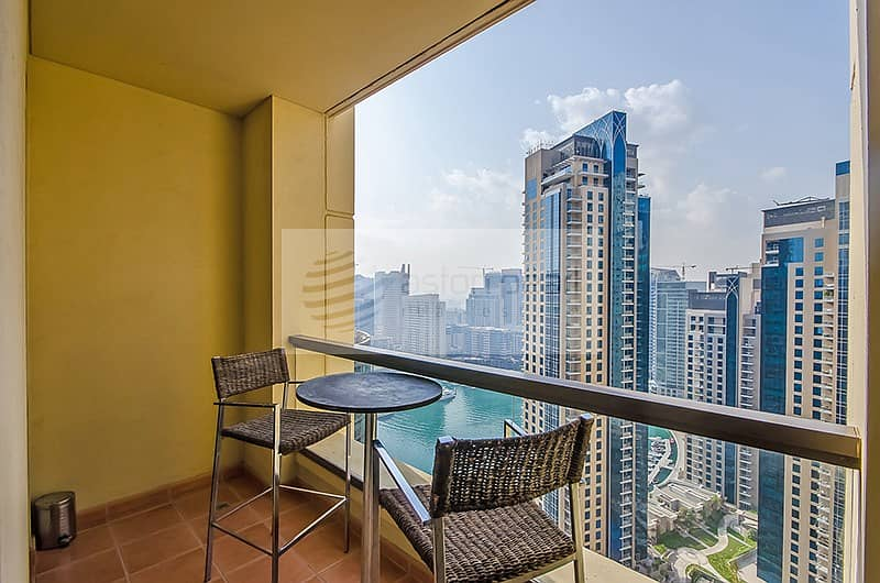 14 Fully Furnished 2BR with Stunning Marina View