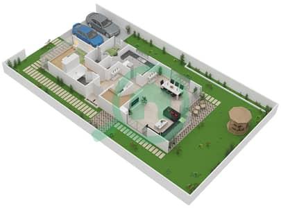المخططات الطابقية لتصميم النموذج V-2 فیلا 6 غرف نوم - ذا فيلد