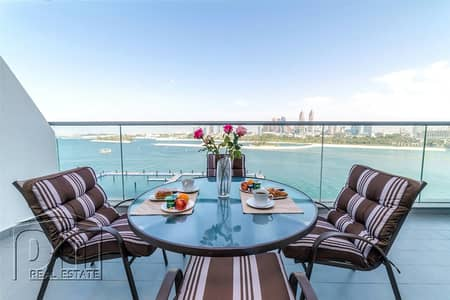 1 Bedroom Flat for Rent in Palm Jumeirah, Dubai - Panoramic Sea View Furnished Beach Access