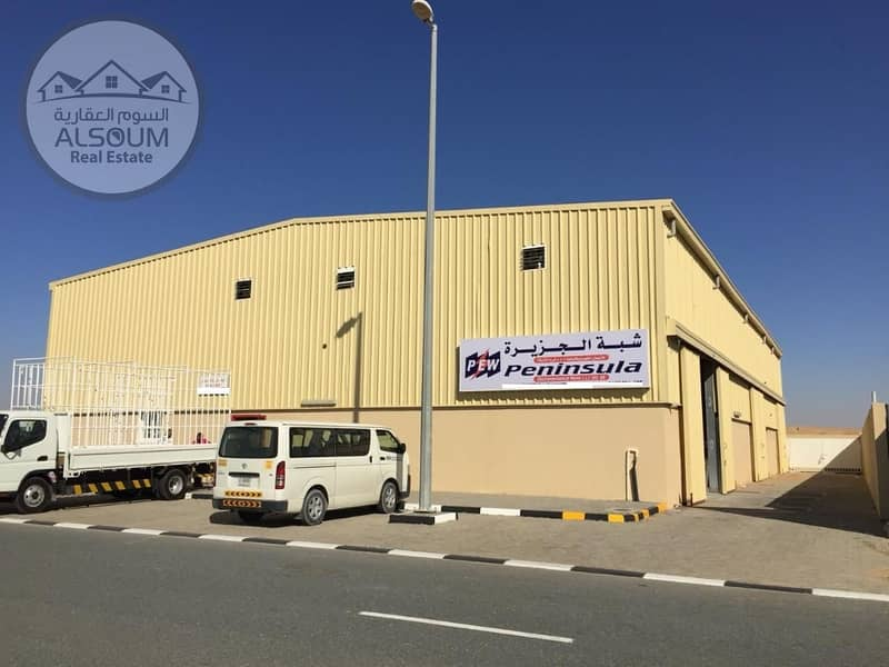 BRAND NEW WAREHOUSE IN SAJJA - ALHANOO INDUSTRIAL CITY