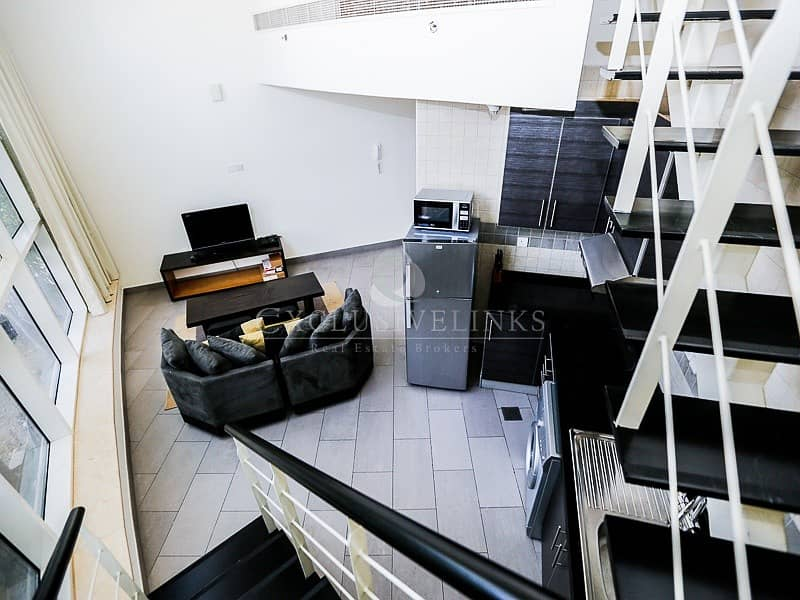 2 Unique Fully Furnished  Loft One Bedroom